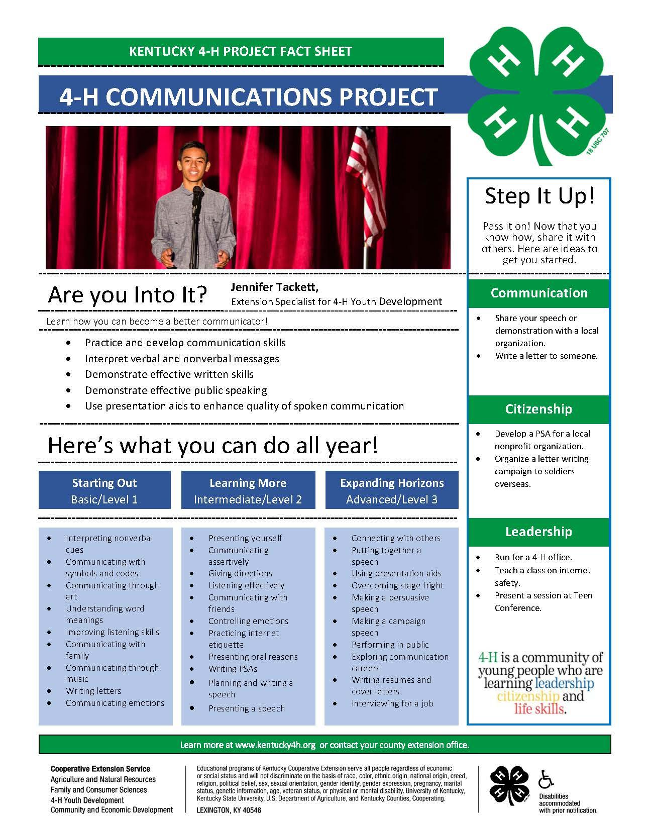 4-H Communication Project Overview