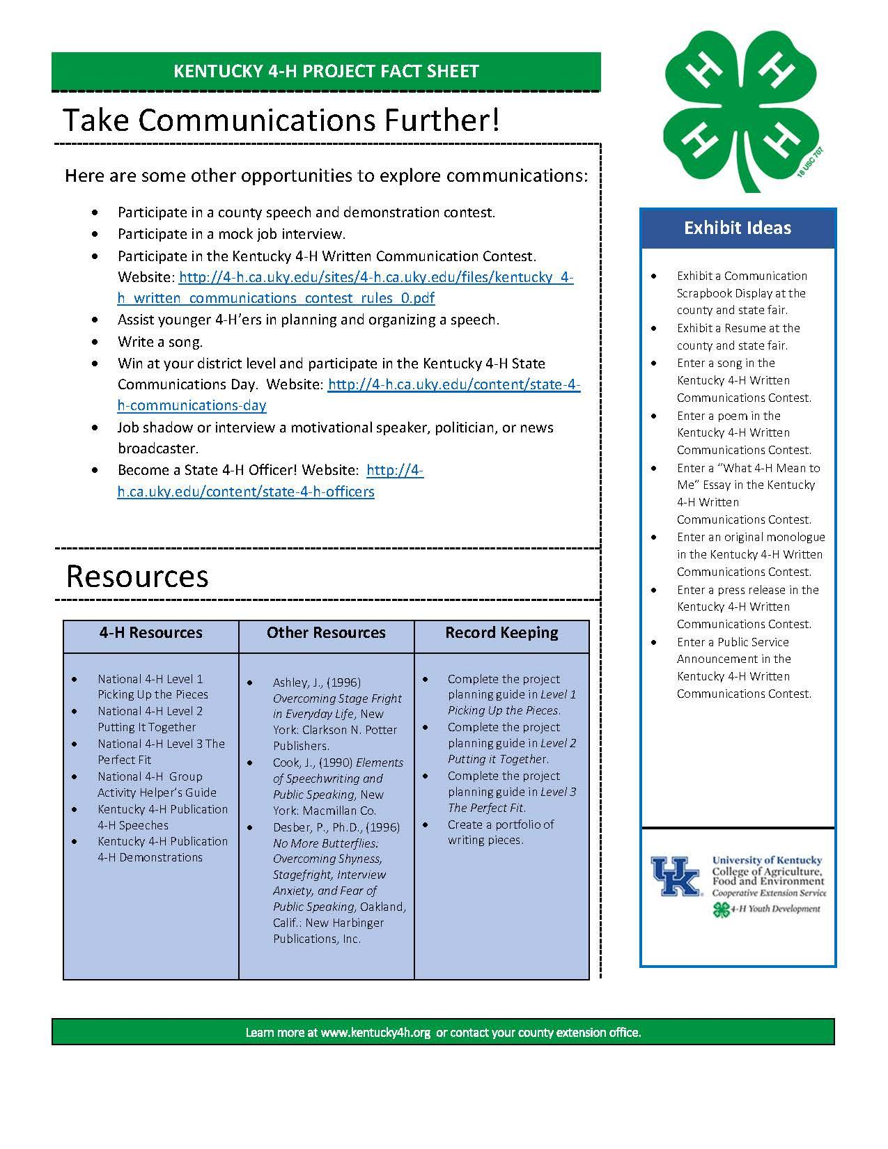 4-H Communication Overview 2018